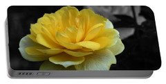 Yellow Rose In Bloom Portable Battery Charger