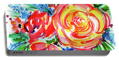 Yellow Rose Red Portable Battery Charger