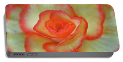 Yellow Rose With Red Tips Portable Battery Charger