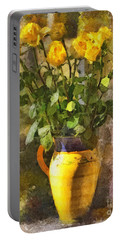 Yellow Roses Bouquet Portable Battery Charger