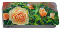 Yellow Roses Portable Battery Charger by William Reed