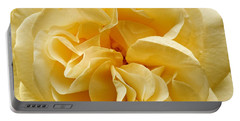 Yellow Ruffles - Rose Portable Battery Charger