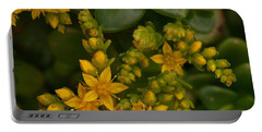 Yellow Sedum Portable Battery Charger by Richard Brookes