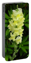 Yellow Snapdragon Portable Battery Charger by Shirley Heyn