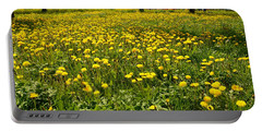 Yellow Spring Carpet Portable Battery Charger
