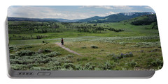 Portable Battery Charger featuring the photograph Yellow Stone Mountains by Mae Wertz