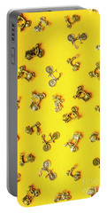 Yellow Summer Transport Portable Battery Charger