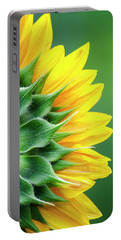 Yellow Sunflower Portable Battery Charger by Christina Rollo