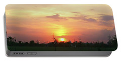 Yellow Sunset At Park Portable Battery Charger