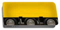 Yellow Truck Portable Battery Charger by Carlos Caetano