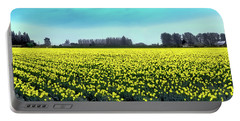 Yellow Tulip Fields Portable Battery Charger by David Patterson