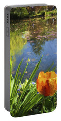 Yellow Tulip In Giverny  Portable Battery Charger
