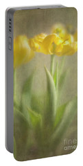 Yellow Tulips Portable Battery Charger by Elena Nosyreva