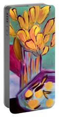 Yellow Tulips Portable Battery Charger