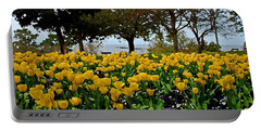 Yellow Tulips Of Fairhope Alabama Portable Battery Charger