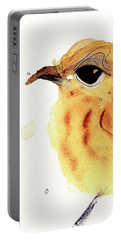 Portable Battery Charger featuring the painting Yellow Warbler by Dawn Derman