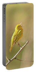 Yellow Warbler Song Portable Battery Charger by Alan Lenk
