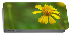 Yellow Wildflower Portable Battery Charger by Christopher L Thomley