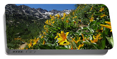 Yellow Wildflowers Portable Battery Charger by Alan Socolik