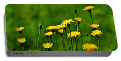 Yellow Wildflowers Portable Battery Charger