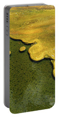 Yellowstone Art. Yellow And Green Portable Battery Charger by Ausra Huntington nee Paulauskaite
