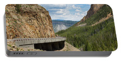 Portable Battery Charger featuring the photograph Yellowstone Drive by John M Bailey