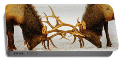 Yellowstone Elks Lock Antlers Portable Battery Charger