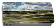 Yellowstone Hayden Valley National Park Wall Decor Portable Battery Charger