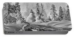 Portable Battery Charger featuring the photograph Yellowstone In Winter by Gary Lengyel