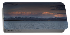 Yellowstone Lake At Sunset Portable Battery Charger