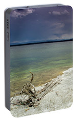 Portable Battery Charger featuring the photograph Yellowstone Lake by Dawn Romine