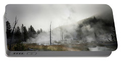 Yellowstone Morning Fog Portable Battery Charger