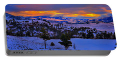 Portable Battery Charger featuring the photograph Yellowstone Winter Morning by Greg Norrell