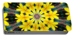 Portable Battery Charger featuring the photograph Yelow Floral Burst by Shirley Moravec