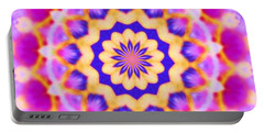 Portable Battery Charger featuring the photograph Yelow Pink Blue Mandala by Shirley Moravec