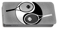 Yin Yang Tennis Portable Battery Charger by Carlos Vieira