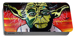 Yoda  Come Home Portable Battery Charger by Nora Shepley