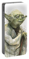 Yoda Watercolor Portable Battery Charger