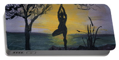 Yoga Tree Pose Portable Battery Charger