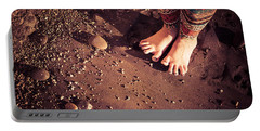 Portable Battery Charger featuring the photograph Yogis Toesies by T Brian Jones