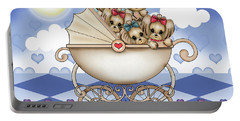 Yorkie Babies Strolling  Portable Battery Charger