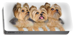 Yorkie Trio Portable Battery Charger