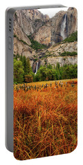 Yosemite Falls Autumn Colors Portable Battery Charger