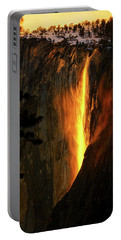 Portable Battery Charger featuring the photograph Yosemite Firefall by Greg Norrell