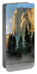 Portable Battery Charger featuring the painting Yosemite National Park El Capitan by Christopher Arndt