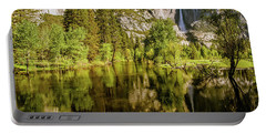 Portable Battery Charger featuring the photograph Yosemite Reflections On The Merced River by John Hight