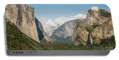 Yosemite Tunnel View With Bridalveil Rainbow By Michael Tidwell Portable Battery Charger