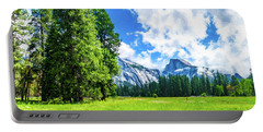 Yosemite Valley And Half Dome Digital Painting Portable Battery Charger