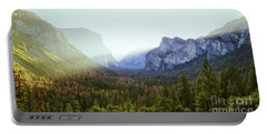 Yosemite Valley Awakening Portable Battery Charger by JR Photography