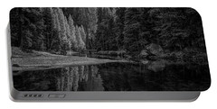 Yosemite Valley Reflactions Bw Portable Battery Charger